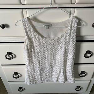 Size medium Dress Barn white top!
